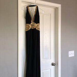 Black & Gold prom dress